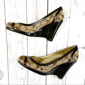 Coach KerryAnn Wedge Pumps
